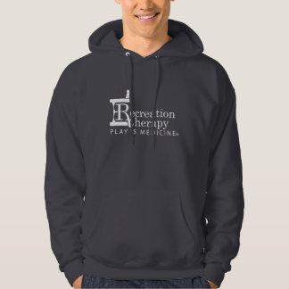 White Logo Recreation Therapy Hoodied Sweatshirt