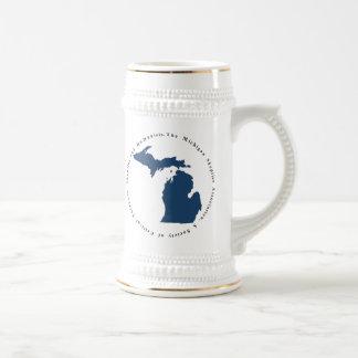 White Logo Stein Mugs