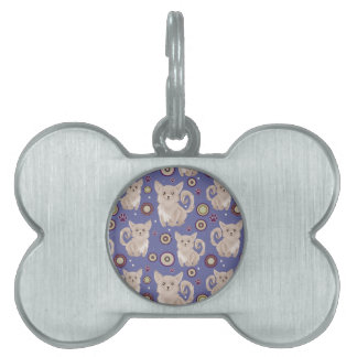 White Longhaired Chihuahua Pattern Pet Tag