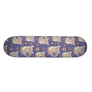 White Longhaired Chihuahua Pattern Skate Decks