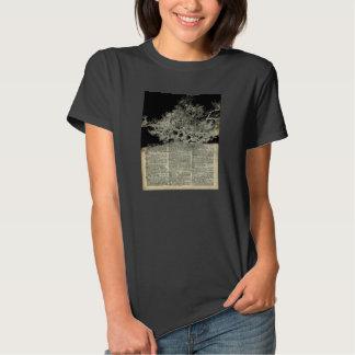 White Lonley Tree Dictionary Art T-shirt