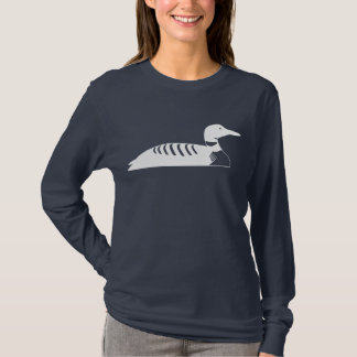 White Loon Bird Floating On the Water T-Shirt
