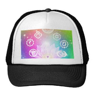 white lotus 7 chakras aura energy system hats