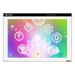 "white lotus 7 chakras aura energy system skin for 17"" laptop"