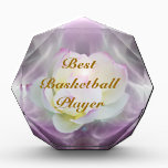 """White lotus best basketball award<br><div class=""""desc"""">The flower symbolism associated with the lotus is estranged love and forgetfulness of the past. The lotus is the national flower of India. The blue or Indian lotus, also known as the bean of India and the sacred water-lily of Hinduism and Buddhism. Lotus roots are also used widely in Asian...</div>"""