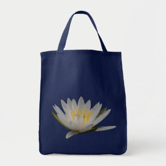White Lotus Blossom Water Lily Flower Tote Bag
