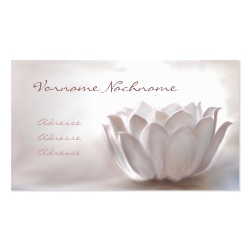 White Lotus Business Card Template