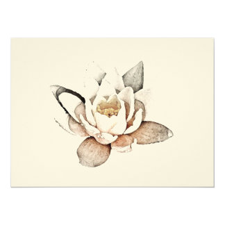 WHITE LOTUS CARD (BLANK INVITATION STYLE)