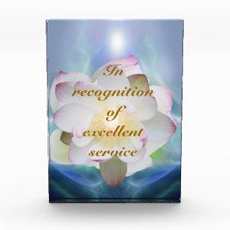 White lotus excellent service acrylic award
