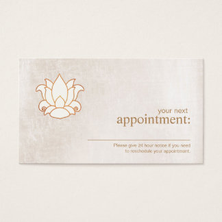 White Lotus Floral Appointment Reminder Card