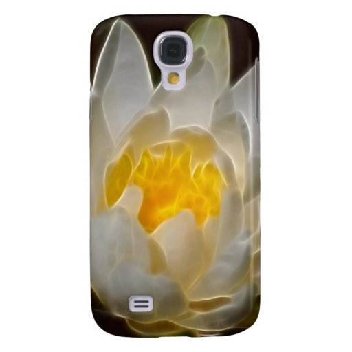 White Lotus flower and meaning Samsung Galaxy S4 Cases