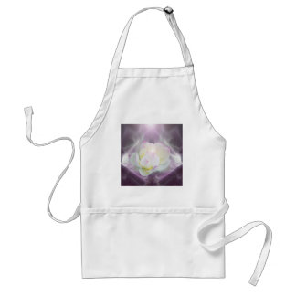 White lotus flower adult apron