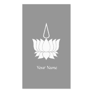 White Lotus Flower Double-Sided Standard Business Cards (Pack Of 100)