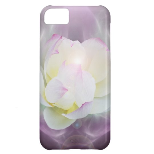 White lotus flower case for iPhone 5C