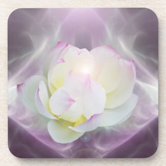 White lotus flower coaster