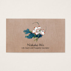 White Lotus Flower Healing Arts Holistic Health Business Card at Zazzle
