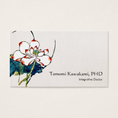 White Lotus Flower Holistic And Natural Medicine Business Card at Zazzle