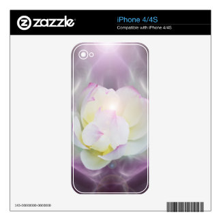 White lotus flower iPhone 4 decal