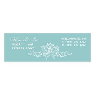 White Lotus Flower Mini Business Card