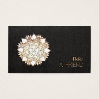 White Lotus Flower Salon & Spa Referral Business Card