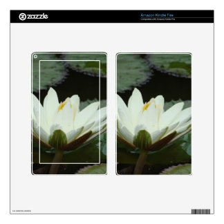 White Lotus Flower Kindle Fire Skins