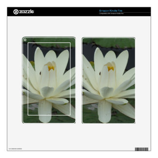 White Lotus Flower Skin For Kindle Fire