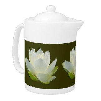 White Lotus flower Teapot