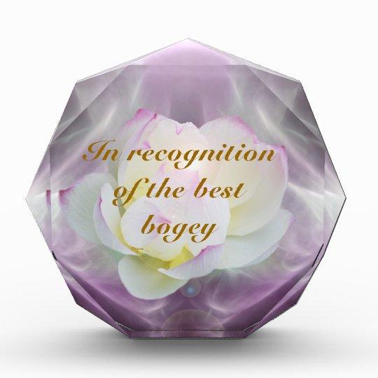 White lotus golf bogey acrylic award