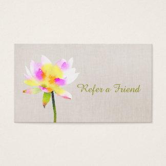White Lotus Holistic Health Referral Card