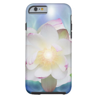 White lotus in blue crystal iPhone 6 case