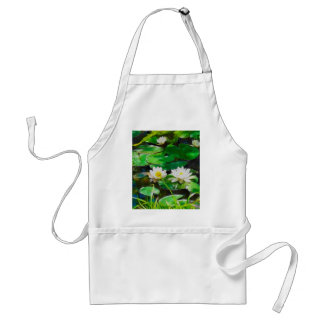 White Lotus In The Pond Adult Apron