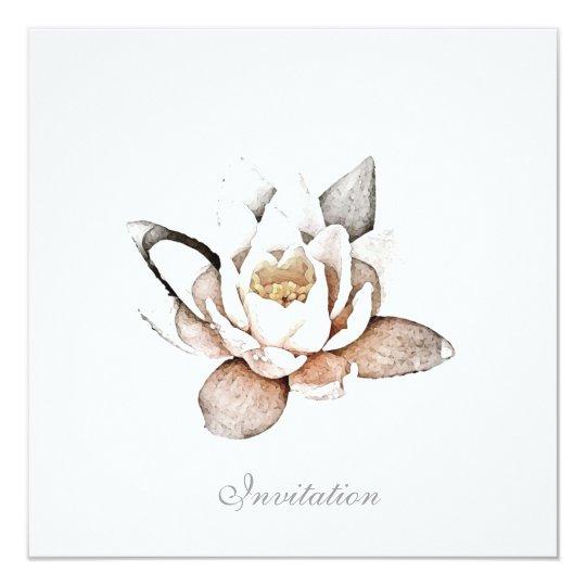 white lotus invitation card zazzle com