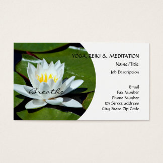 White Lotus l Water Lily l Breathe Business Card