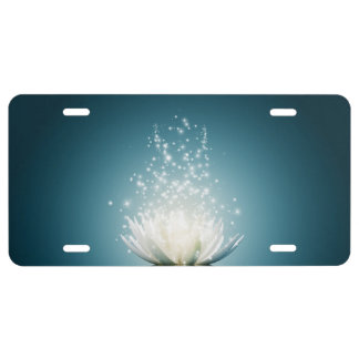 White Lotus Magic License Plate