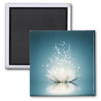 White Lotus Magic Magnet