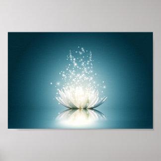 White Lotus Magic Mini Poster