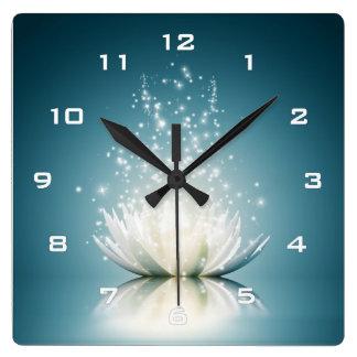 White Lotus Magic Wall Clock