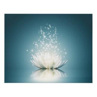 White Lotus Magic Wood Wall Art