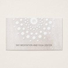 White Lotus Mandala Yoga And Meditation Instructor Business Card at Zazzle