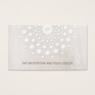 White Lotus Mandala Yoga and Meditation Instructor Business Card