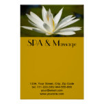 White lotus print