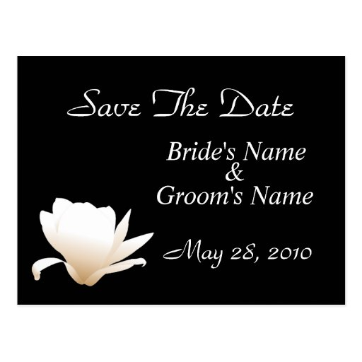 White Lotus Save the Date Postcard