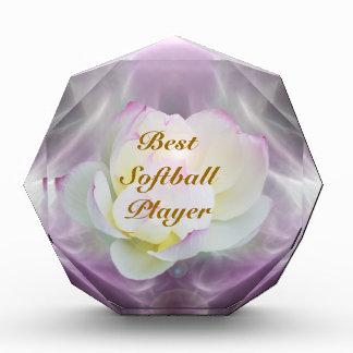White lotus softball award
