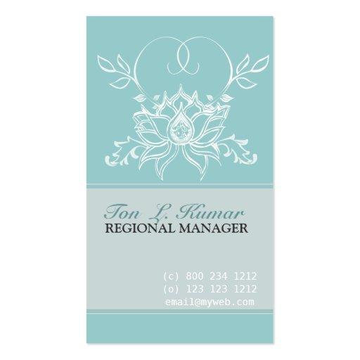 White Lotus Spiritual Perfection  Puritu Flowers Business Cards