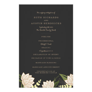 White Lotus Wedding Programs