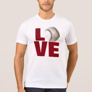 White Love Baseball T-Shirt - Popular Sport Games