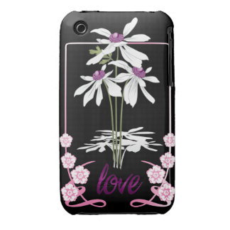 White Love Daisies iPhone 3 Cover