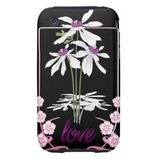 White Love Daisies iPhone 3 Tough Cover