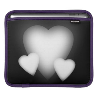 White Love Hearts Sleeves For iPads