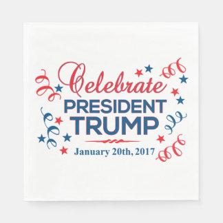 White Luncheon Paper Napkins Celebrate Trump